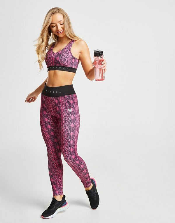 Pink Soda Sport Snake Tights