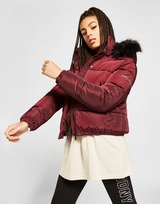 Supply & Demand Logo Fur Hood Puffer Jacket