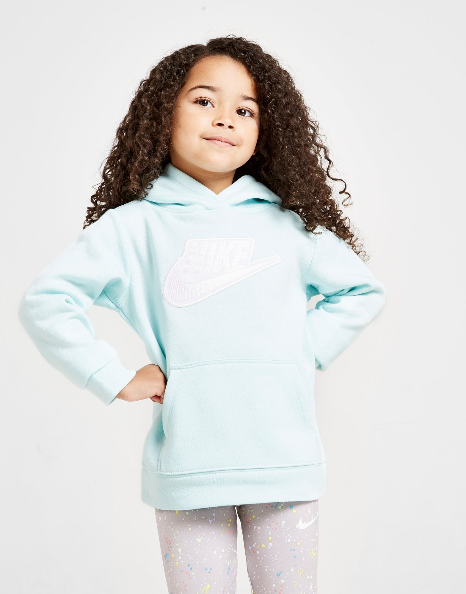 Nike Girls' Futura Pull Over Hoodie Children by Nike