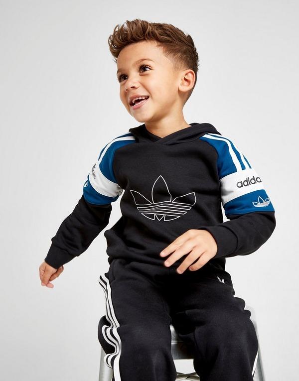 adidas Originals Spirit Overhead Hoodie Tracksuit Children