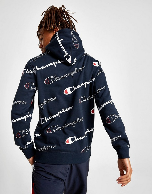 Champion All Over Print Hoodie   JD Sports