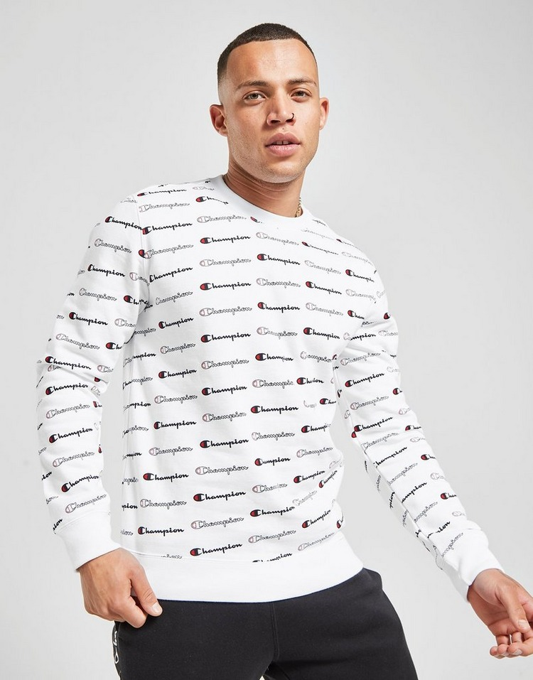 Champion All Over Print Crew Sweatshirt