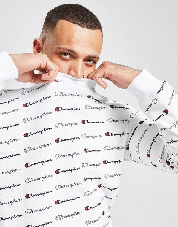 Champion All Over Print Crew Sweatshirt