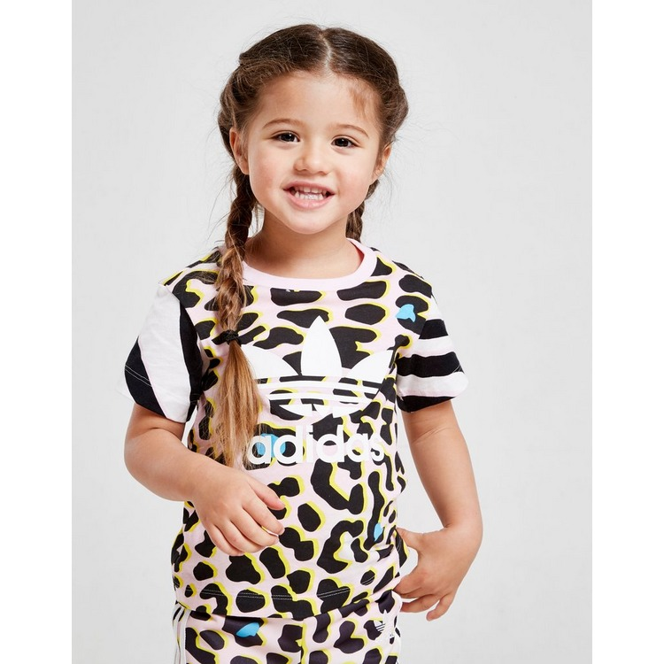 adidas Originals Girls' All Over Print T-Shirt Infant