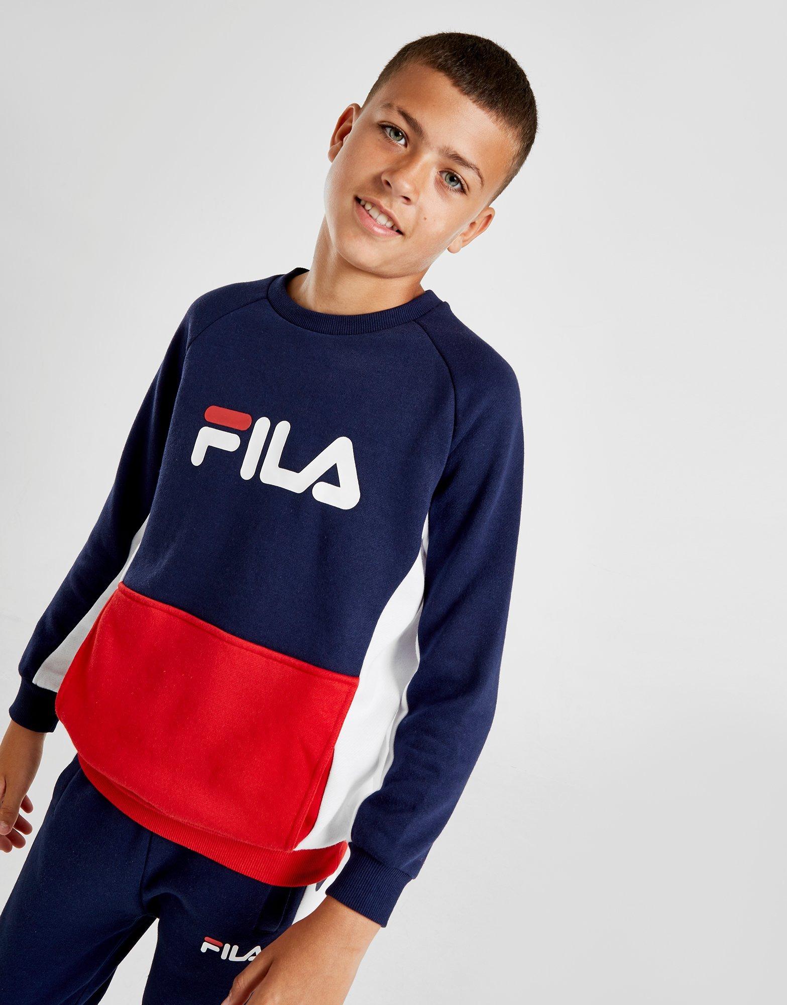 Felpa girocollo a tre colori con logo Fila 10 16 anni | Pellizzari E commerce
