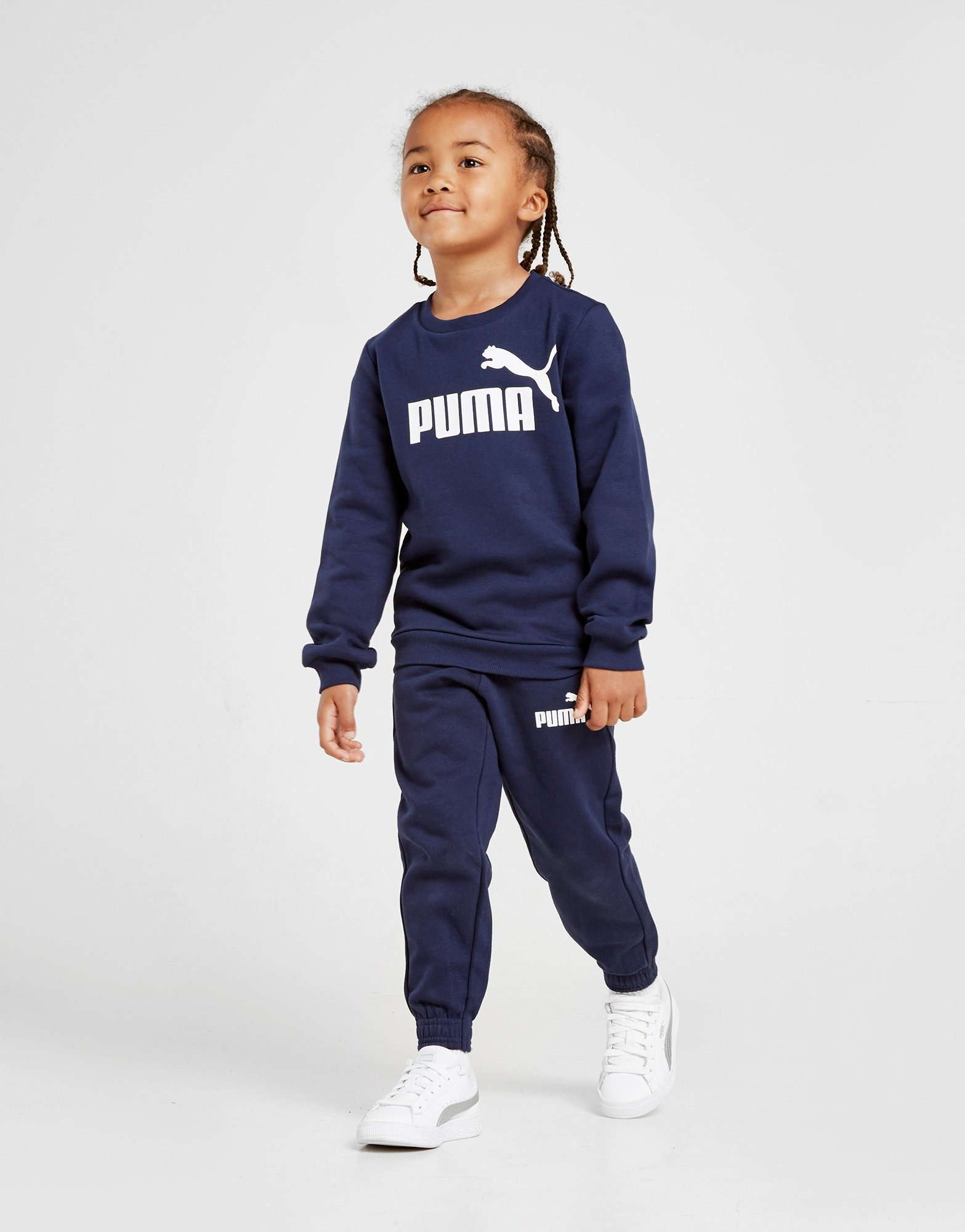 Puma Logo Crew Suit Children by Puma