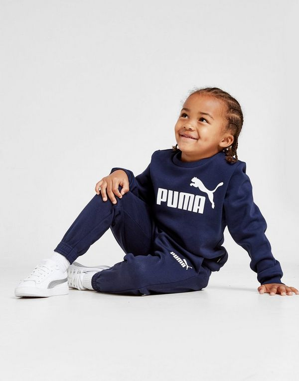 Puma Logo Crew Suit Children