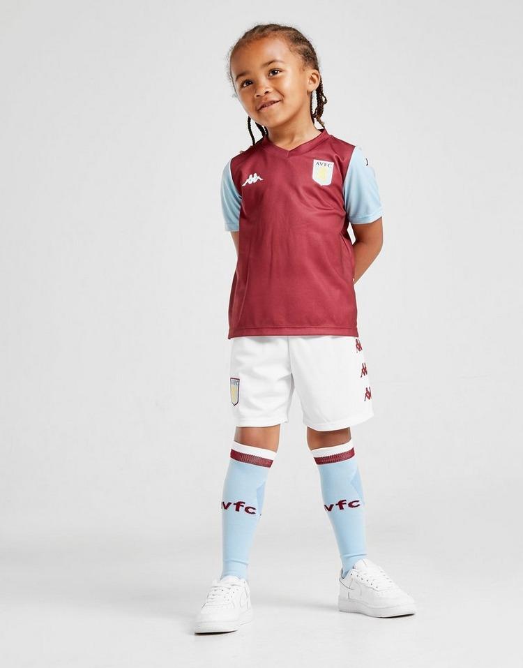Kappa Official Kids Aston Villa FC Home Football Shirt Jersey Top 2019-20