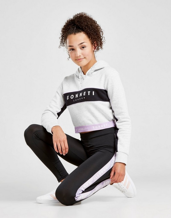 Sonneti Girls' Kora 1/2 Zip Crop Hoodie Junior