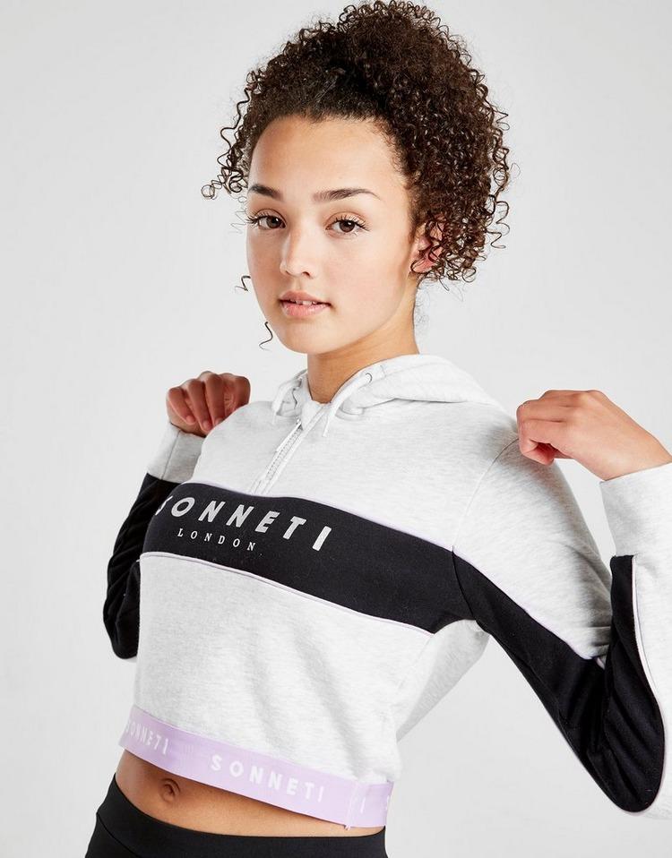 Sonneti Girls' Kora 1/2 Zip Crop Hoodie Junior