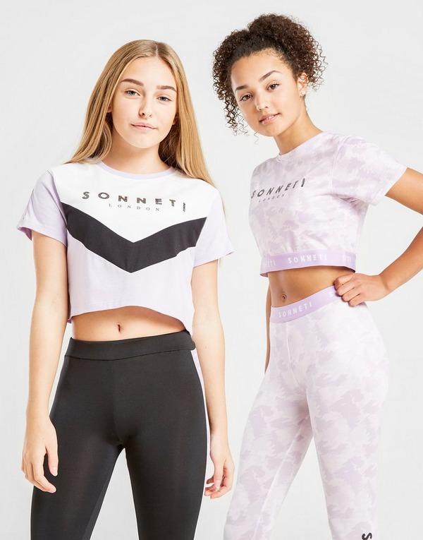 Sonneti Girls' Monroe Panel T-Shirt Junior