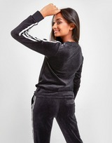 adidas Originals 3-Stripes Velvet Long Sleeve T-Shirt