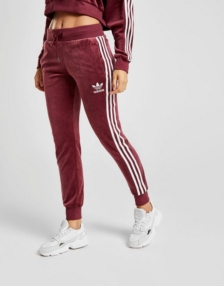 adidas Originals 3-Stripes Velvet Joggers | JD Sports