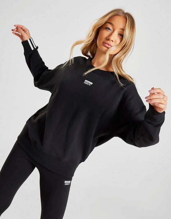 Acherter Noir adidas Originals Sweat shirt R.Y.V. Crew Femme