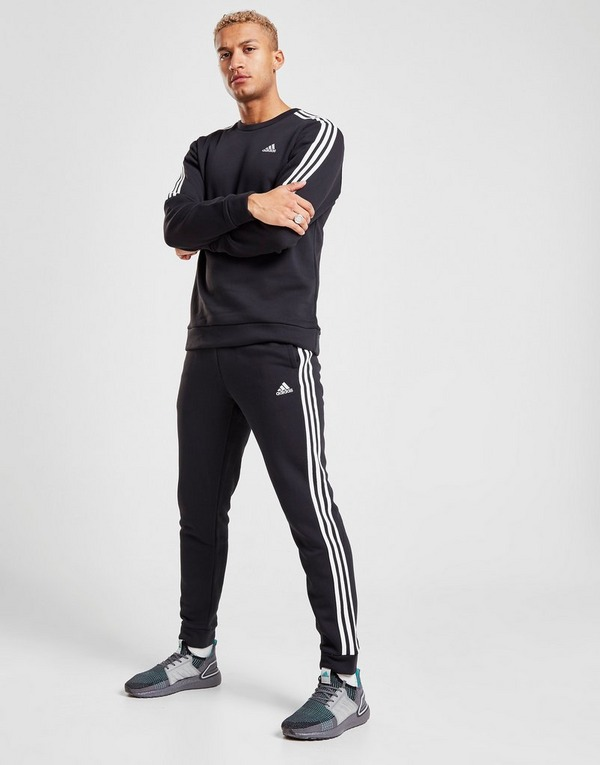 Koop Zwart adidas Essentials 3 Stripes Trainingsbroek Heren