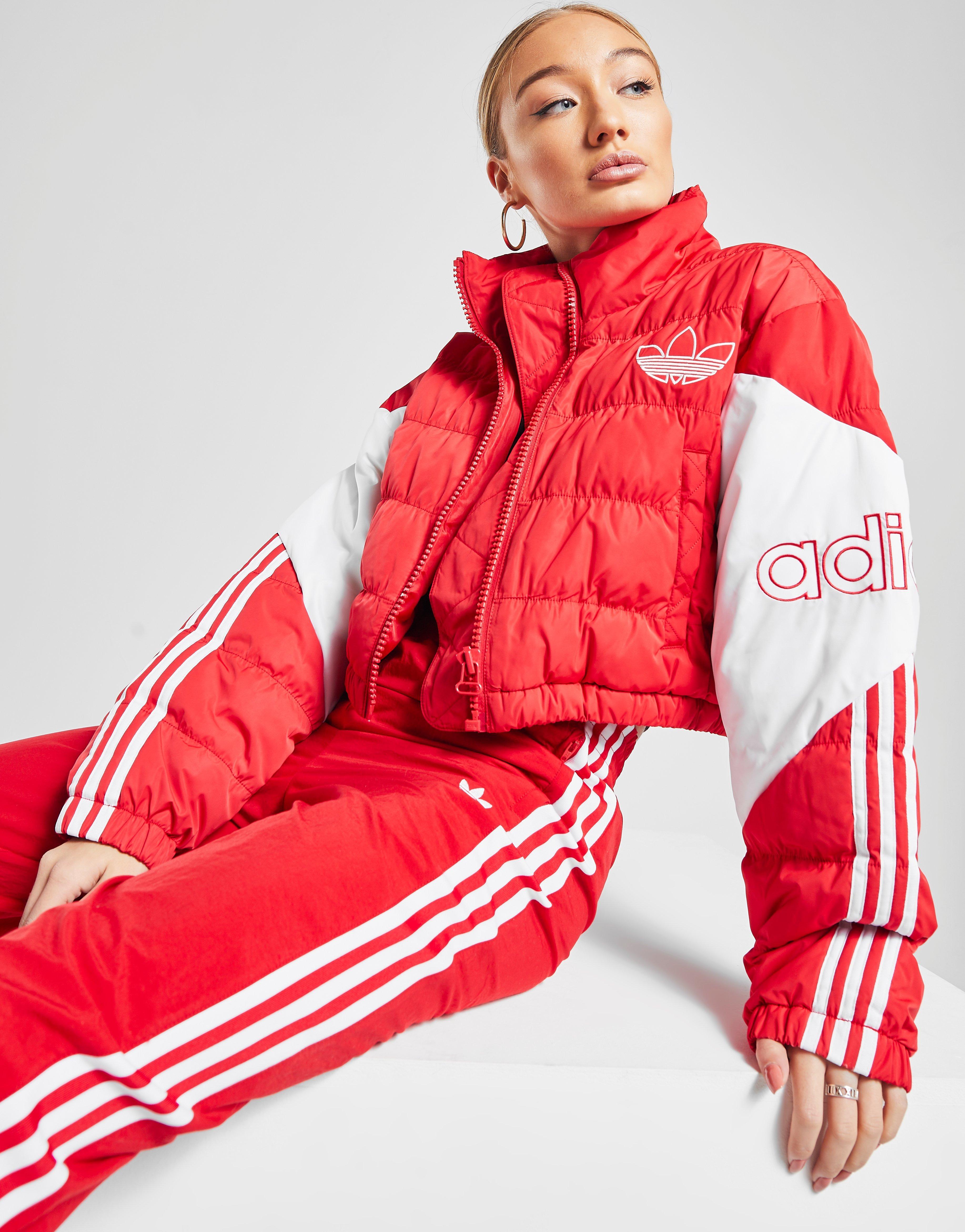 Women's adidas Originals Vocal Taped Padded Jacket Pink Spirit