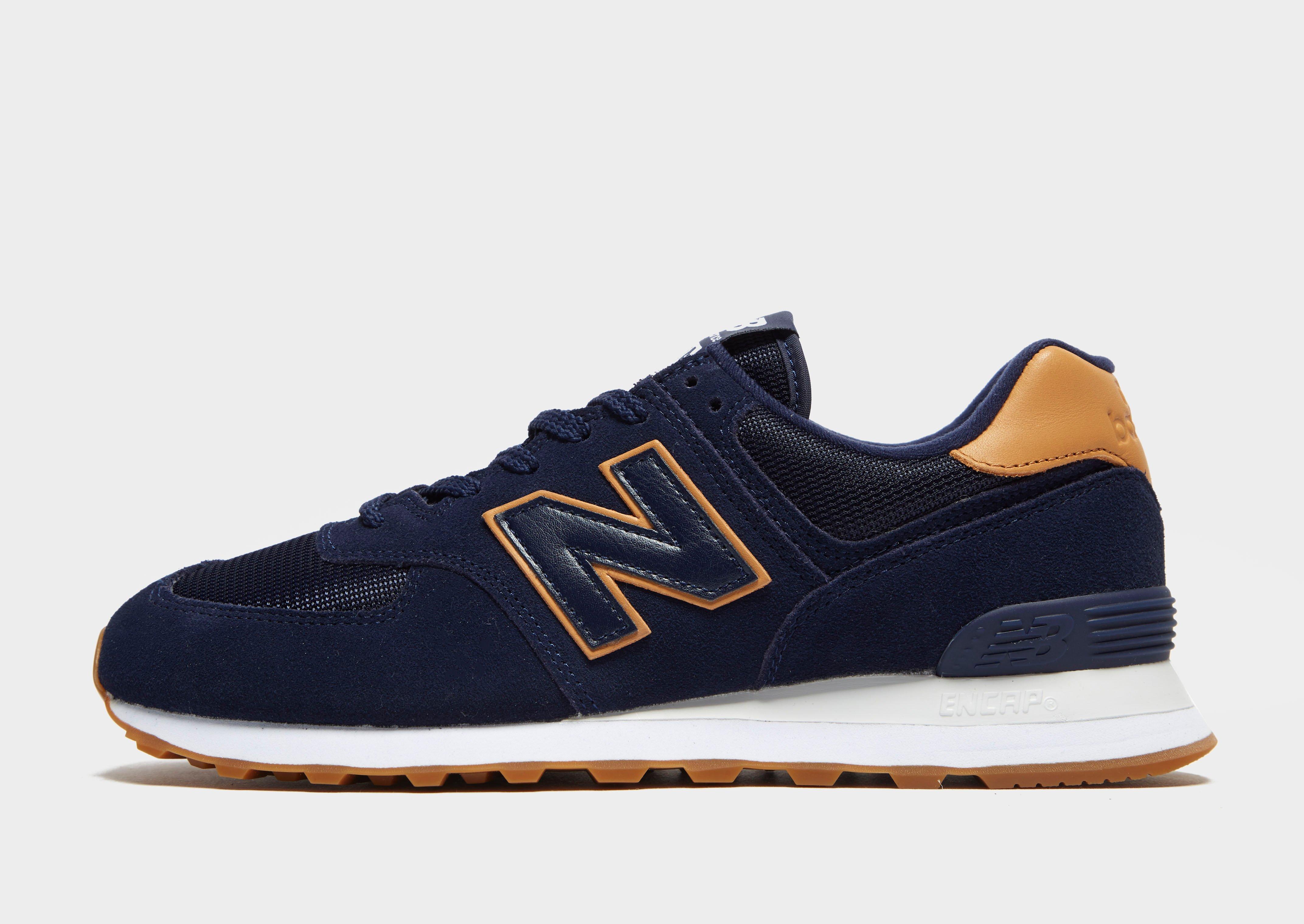 new balance azul e dourado