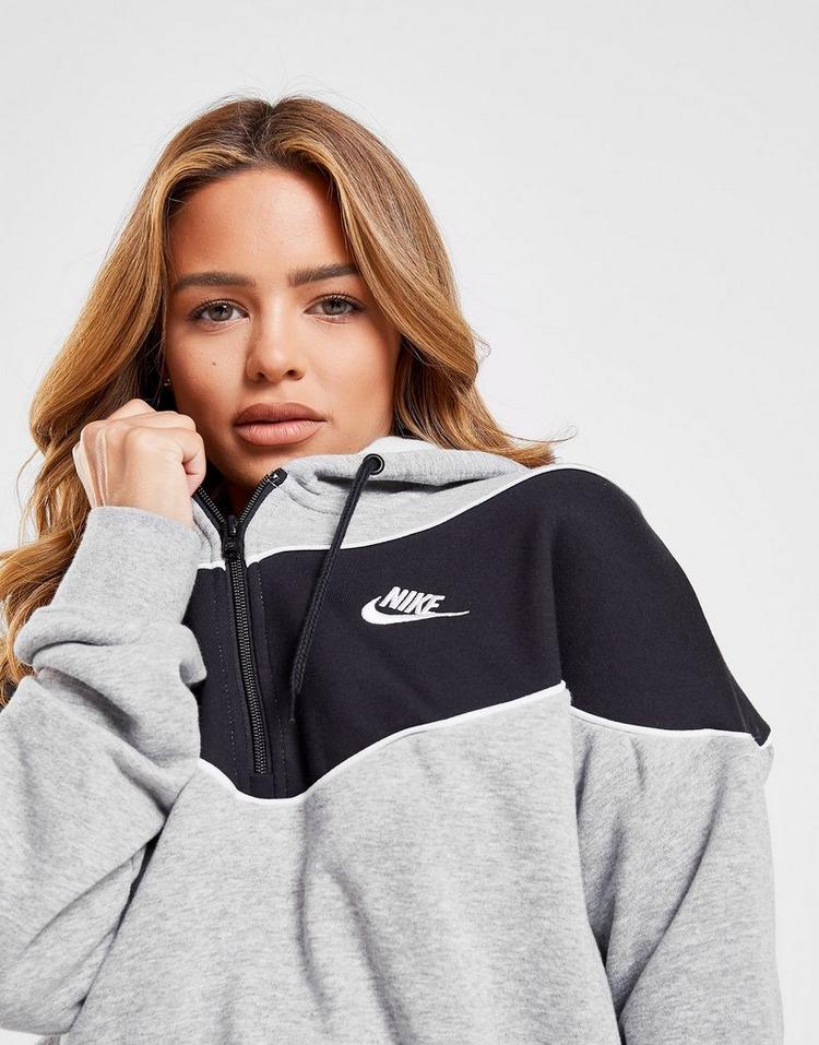 Nike Heritage 1/2 Crop Hoodie