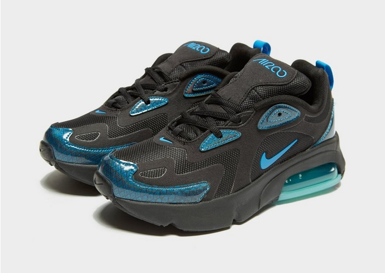 nike black and blue air max 200 baby dragon trainers junior