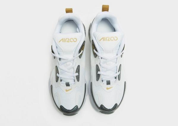 Nike – Air Max 200 – Vita och guldfärgade träningsskor