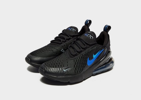 nike air max 270 junior blue and black