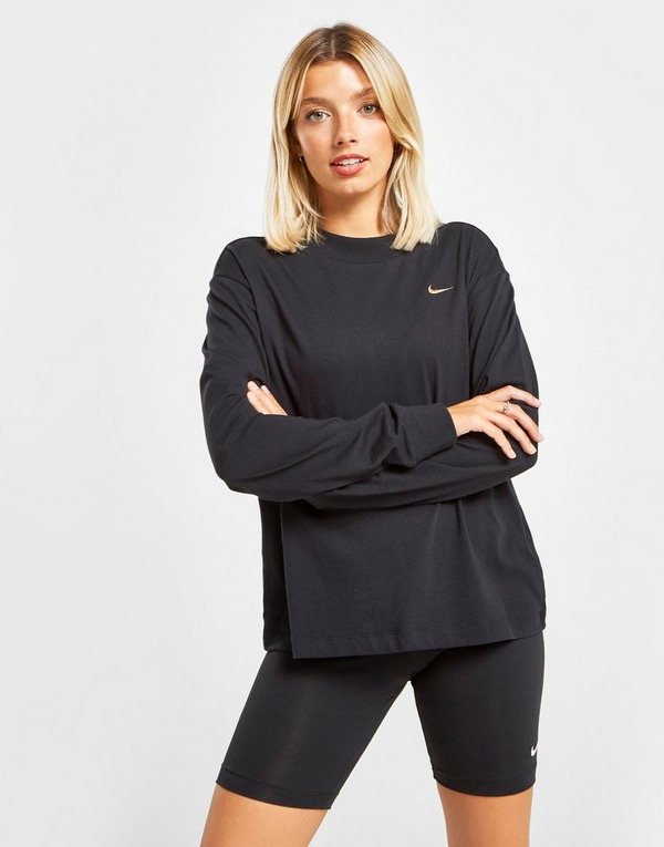 Køb Nike Essential Long Sleeve T Shirt Dame i Sort | JD Sports