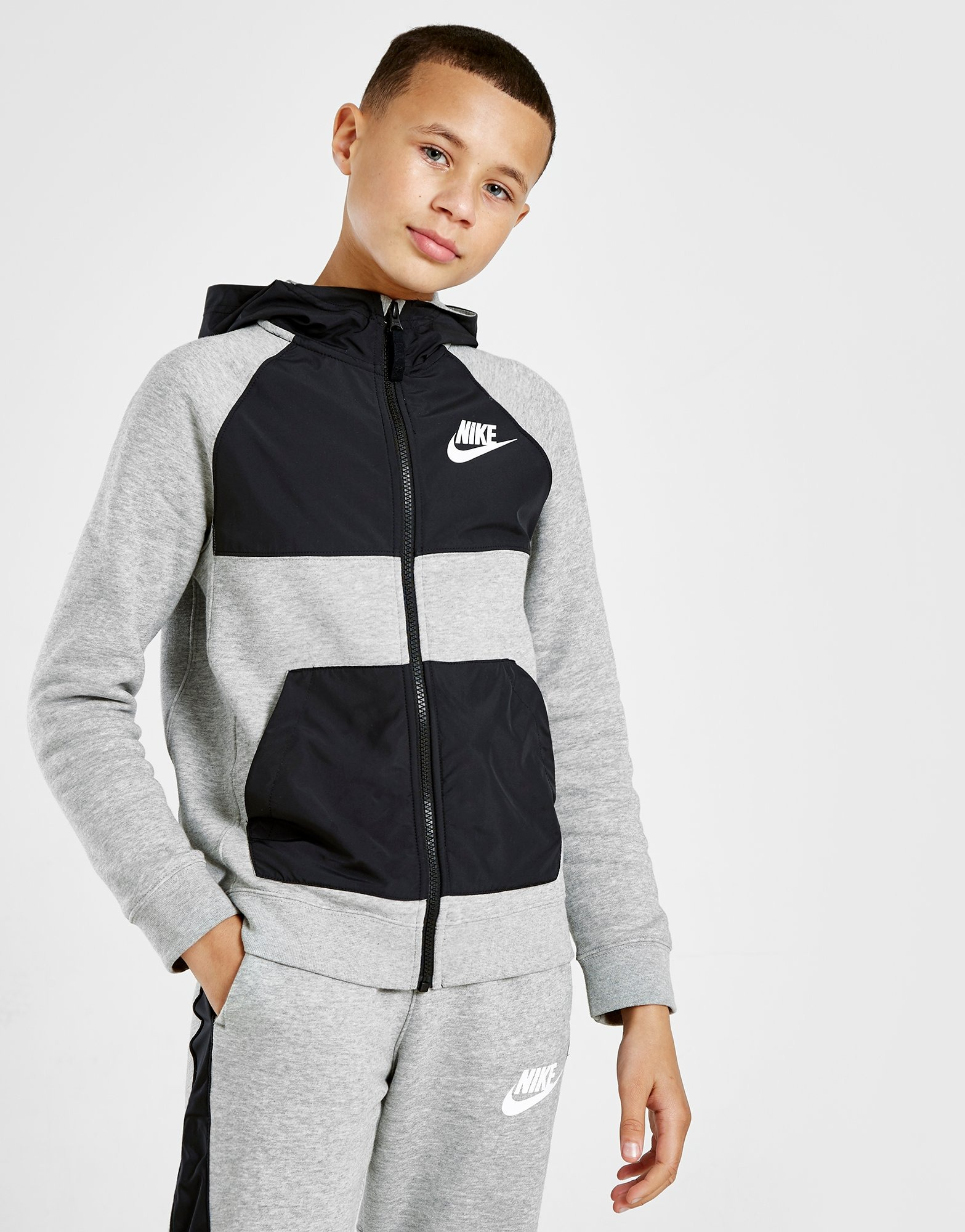 Nike Sweat à capuche Hybrid Zippé Polaire Junior | JD Sports