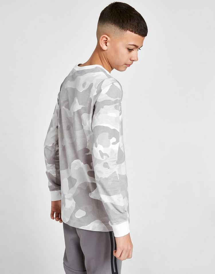 Nike Camo Long Sleeve T-Shirt Junior