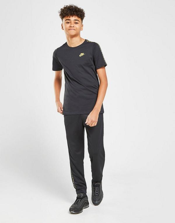 Acheter Black Nike T shirt Swoosh Taping Junior