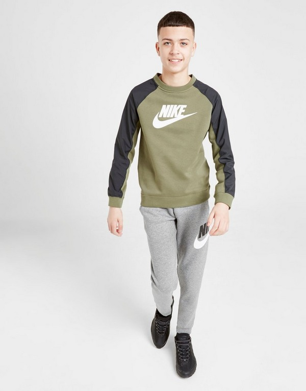 nike air hybrid fleece crew sweatshirt