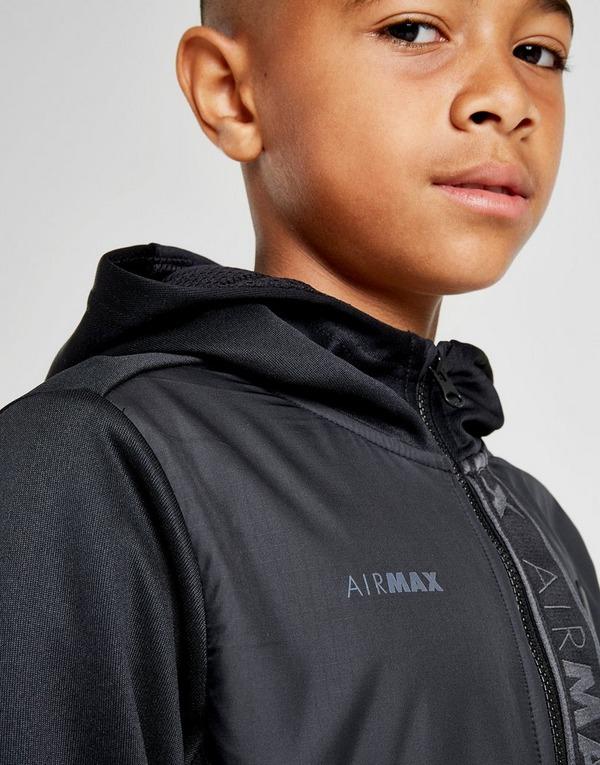 Køb Nike Air Max Full Zip Hoodie Junior i Sort | JD Sports
