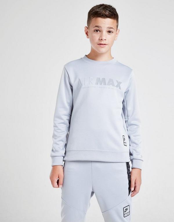 Buy Grey Nike Air Max Poly Crew Sweatshirt Junior | JD Sports