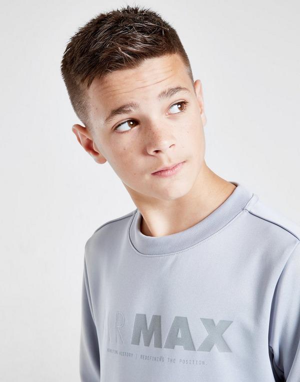 Køb Nike Air Max Poly Crew Sweatshirt Junior i Grå | JD Sports