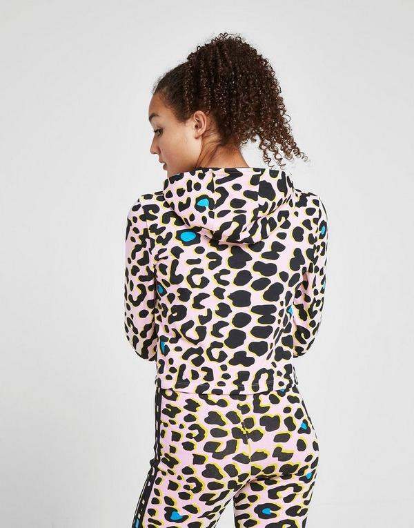 Acquista adidas Originals Leopard Print Crop Felpa Junior in