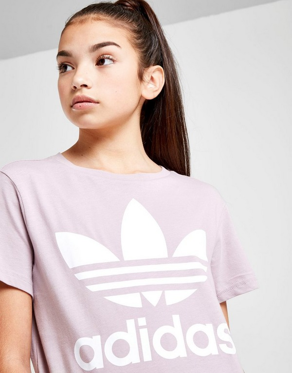 Acherter Violet adidas Originals T Shirt Fille Trèfle Junior