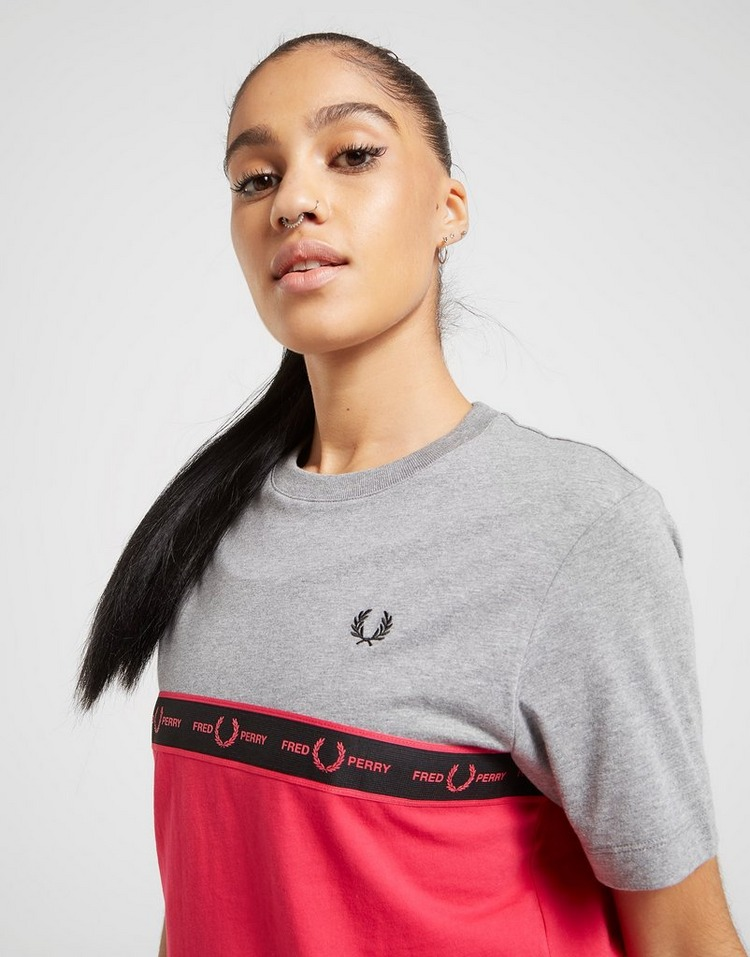 Fred Perry T-shirt Panel Tape Femme