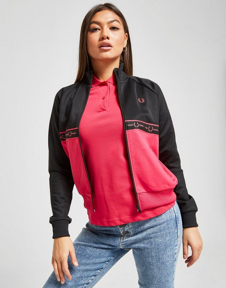 Fred Perry Veste de Survêtement Tape Panel Femme