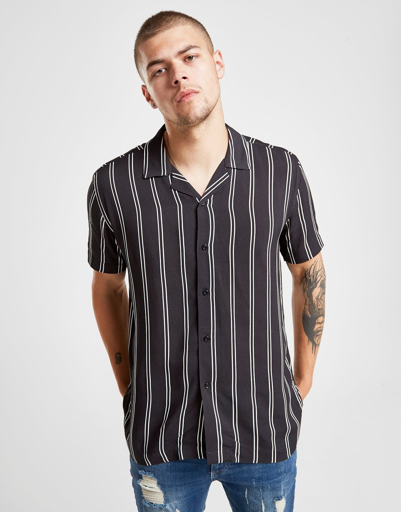 Status Vegas Stripe Short Sleeve Shirt by Status