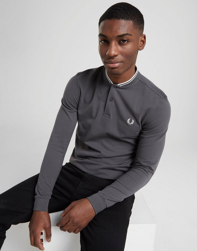 Fred Perry Polo Bomber Collar Manches Longues Homme