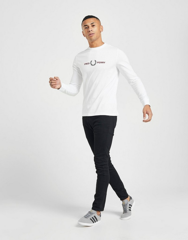 Fred Perry T-Shirt Embroidered Manches Longues Homme