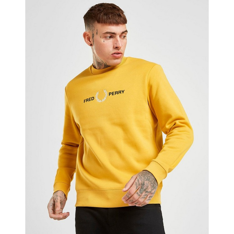 Fred Perry Sweat-shirt Embroidered Homme