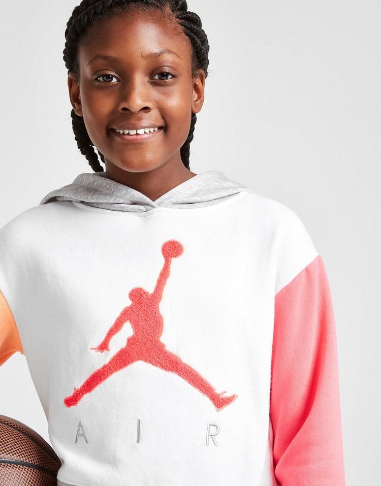 Jordan Girls' Air Crop Overhead Hoodie Junior