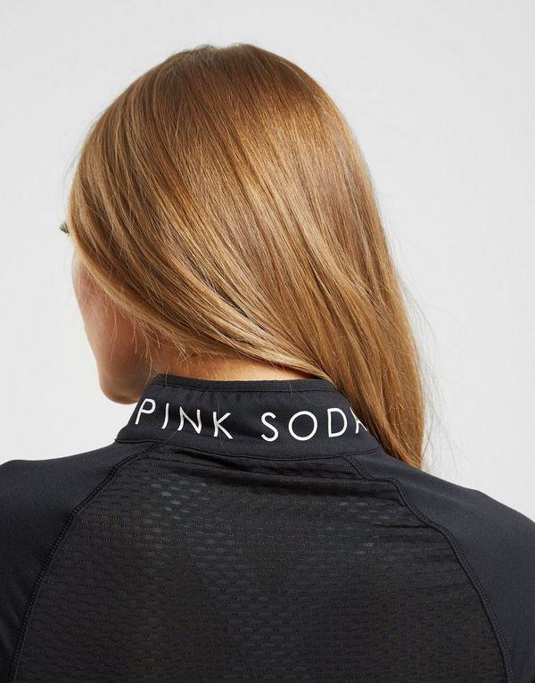 Pink Soda Sport Piped 1/4 Zip Top