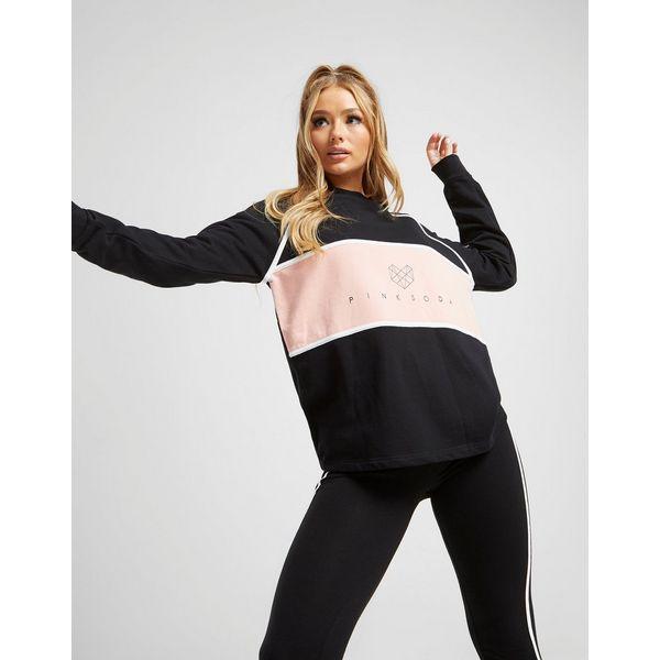 Pink Soda Sport Piped Crew Sweatshirt