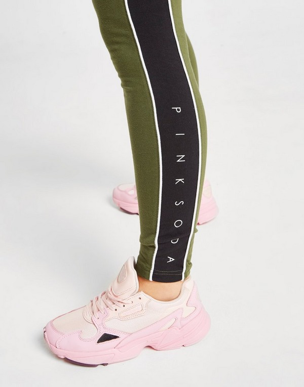 Pink Soda Sport Colour Block Panel Tights