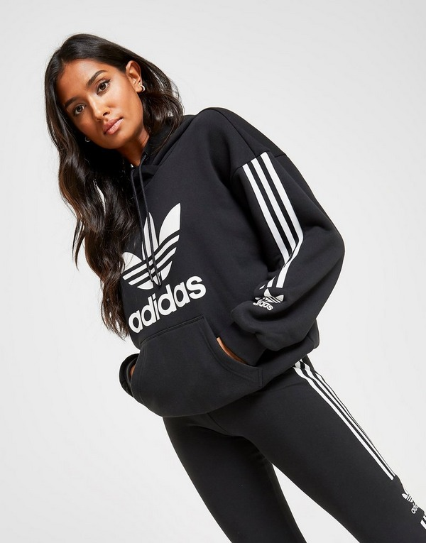 adidas Originals 3-Stripes Lock Up Boyfriend Hoodie