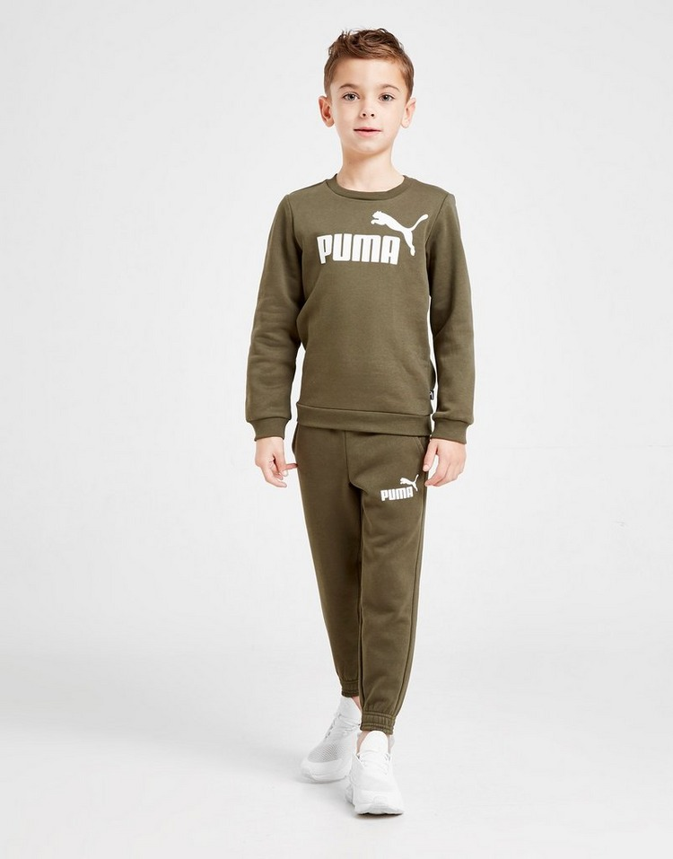 PUMA Logo Crew Suit Children