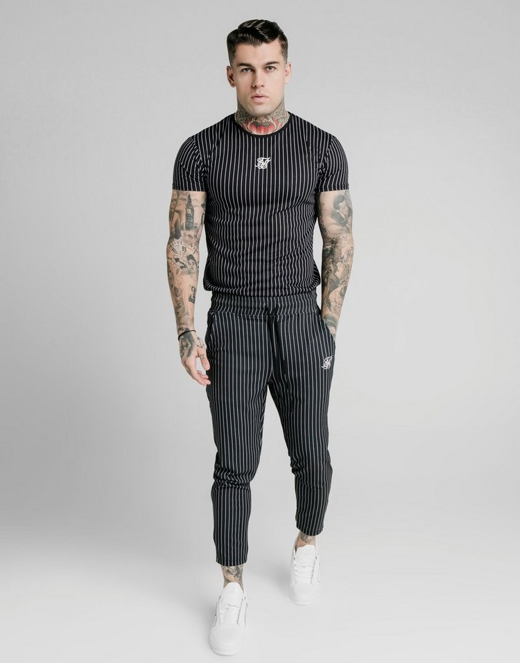 SikSilk Pinstripe T-Shirt