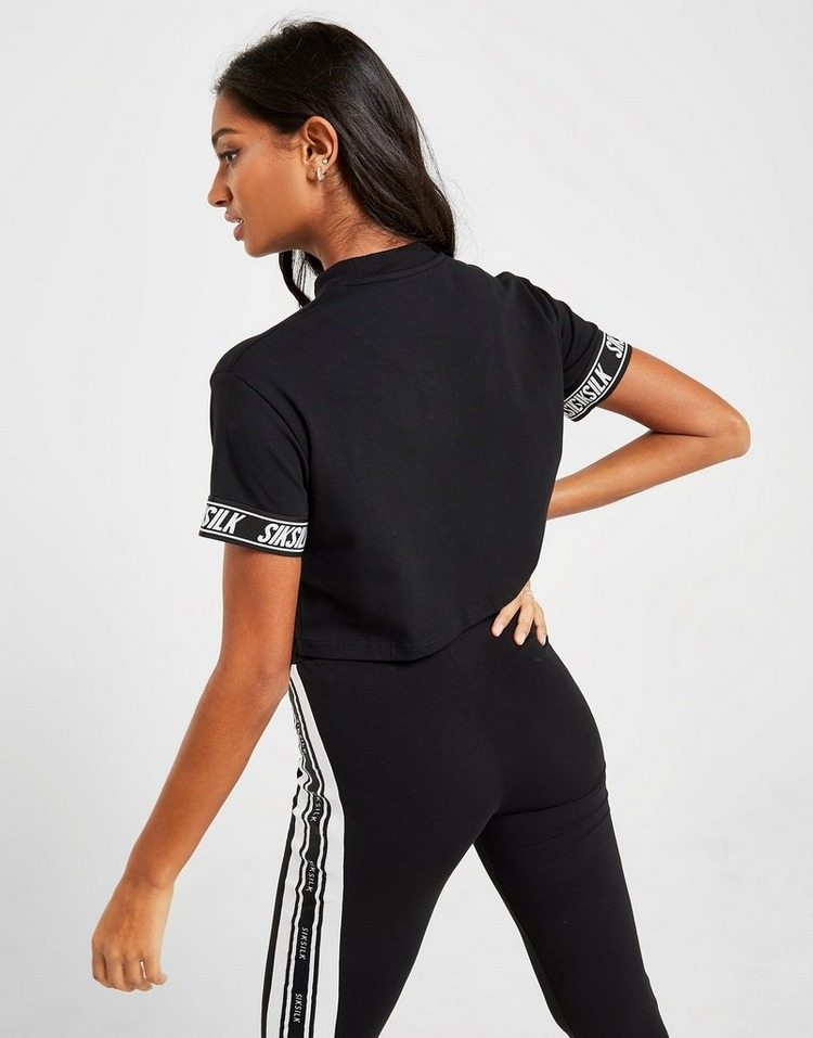 SikSilk Short Sleeve Cuff Logo T-Shirt