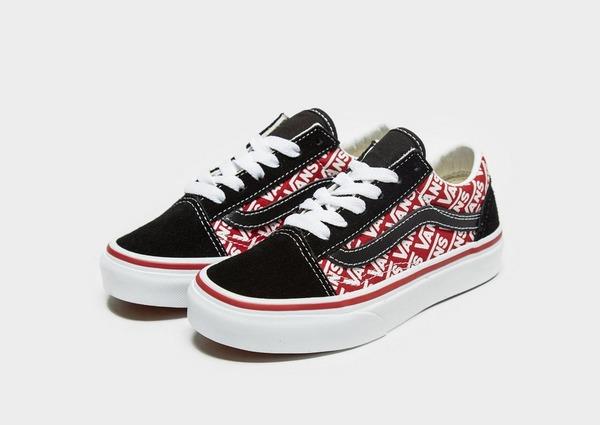vans blanche rouge